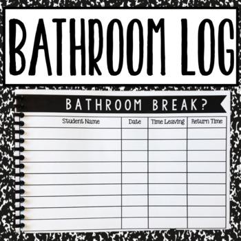 Bathroom Log Book