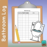 Bathroom Logs - Special Education (Editable Version Now Included)