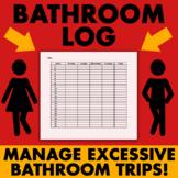 Bathroom Log (weekly)  - Classroom Management