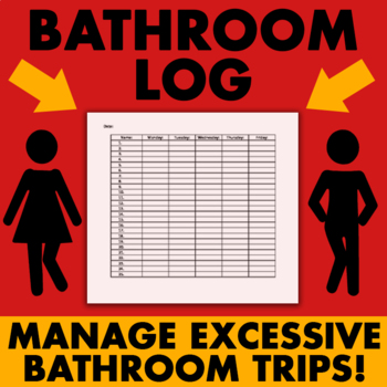 Bathroom Log (weekly)  - Classroom Management