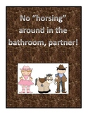 Bathroom Management Program with a Western and/or Horse Theme
