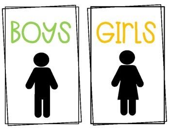 Bathroom Management System:Poster & Passes*includes gender neutral version