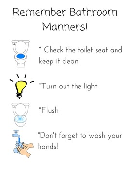Bathroom Manners Poster