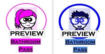Bathroom/Messenger Pass (bundle)