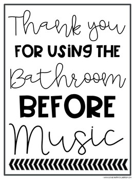 Bathroom & Nurse Sign Out FREEBIE