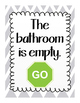Bathroom Pack: rule posters and stop and go signs
