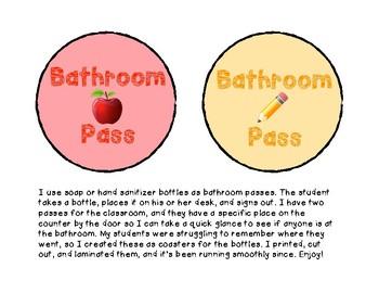Bathroom Pass Coasters