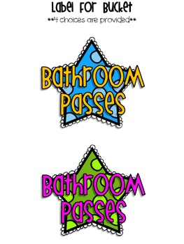 Bathroom Pass Freebie By All Students Can Shine Tpt