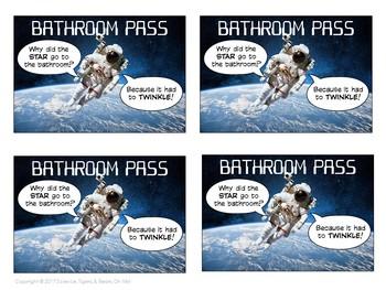 Bathroom Pass Freebie