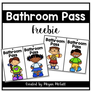 Bathroom Pass Freebie