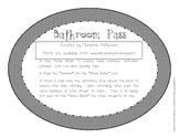 Bathroom Pass Labels for Hand Sanitizer Bottles