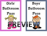 Bathroom Pass Labels for Hand Sanitizers