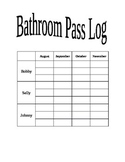 Bathroom Pass Log