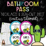 Bathroom Passes {Cactus}