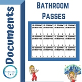 Bathroom Pass for Secondary Students!