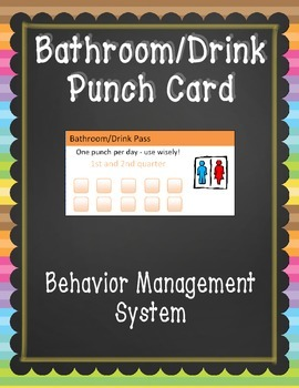 bathroom pass punch card by falling for 1st teachers pay