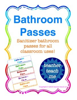 Bathroom Passes