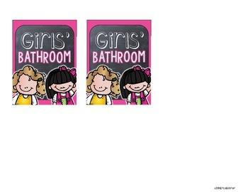 Bathroom Passes - Chalkboard Style