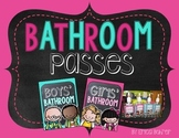 Bathroom Passes - Chalkboard Style