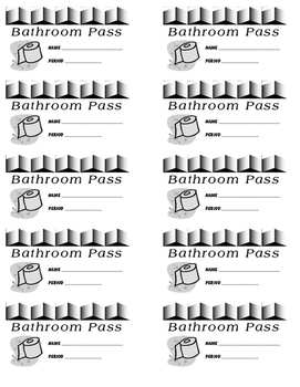 Bathroom Passes FREE