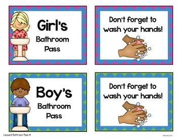 Bathroom Passes, Procedures and Posters