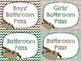 Bathroom Passes - Sloth Themed