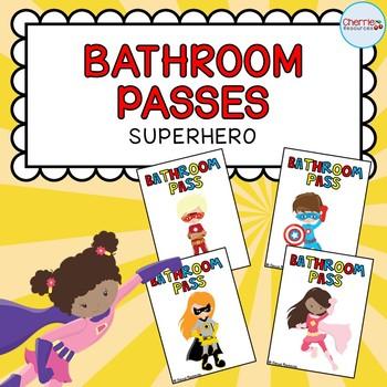 Bathroom Passes *Superhero*