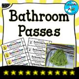 Bathroom Passes Template - FREEBIE!