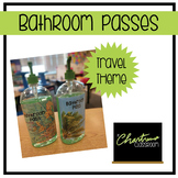 Bathroom Passes Travel Theme