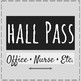 Bathroom Passes and Hall Pass-black and white version