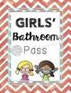 Bathroom Passes (hand sanitizer bottles)- Chevron Theme