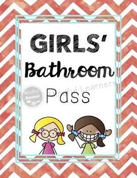 bathroom passes hand sanitizer bottles watercolor theme by