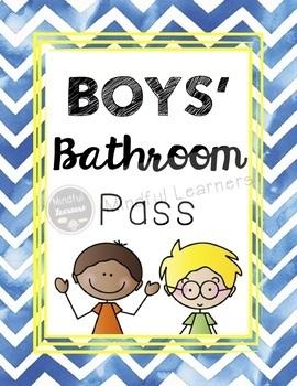 Bathroom Passes (hand sanitizer bottles): Watercolor Theme