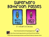 Bathroom Passess - Superhero Theme