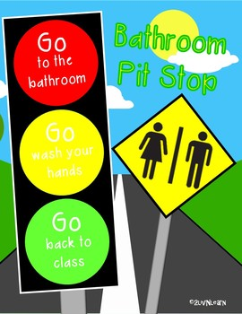 Bathroom Pit Stop Poster FREEBIE!