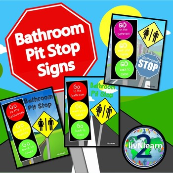 Bathroom Pit Stop Poster FREEBIE!