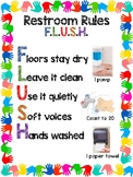 Bathroom Poster with Handwashing Prompts