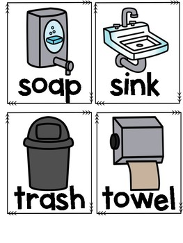 Bathroom Posters and Labels
