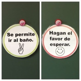 Bathroom Procedure Double-Sided Sign (Spanish)