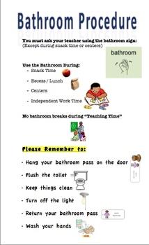 Bathroom Reminder Posters & Worksheets | Teachers Pay Teachers