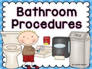 Bathroom Procedures- Pink Polka Dots