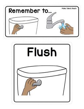 Bathroom Prompt Signs