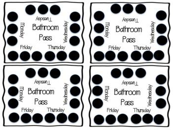Bathroom Punch Cards