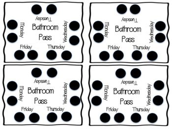 Bathroom Punch Cards