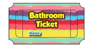 Bathroom Raffle Ticket
