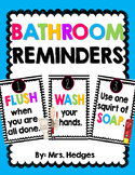 Bathroom Rules & Reminder Posters