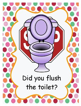 Bathroom Reminder Signs Pack