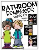 Bathroom Reminders Poster Set {White Version}