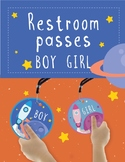 Bathroom / Restroom Passes - Space and Astronaut Theme