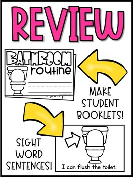 Bathroom Routine Cards & Student /Teacher Booklets | Back to School Activity